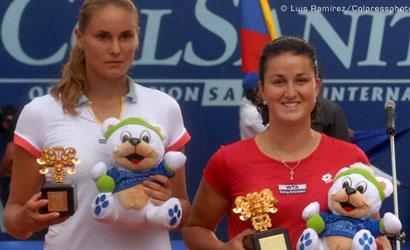 Lara Arruabarrena, campiona del WTA de Bogotà 2012.