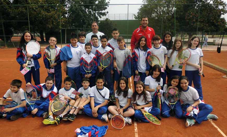 """El CN Lleida i el Sícoris aculles escoles al programa """"I ara… tennis"""""""