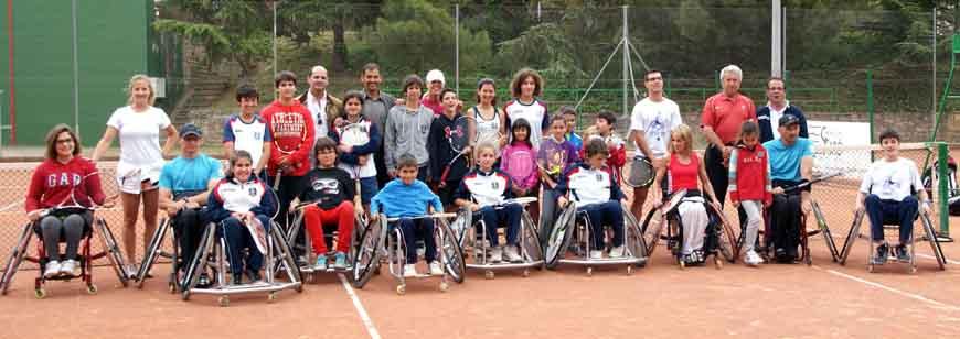 El tennis, amb els Jocs Catalans d'Esport Adaptat de Cervera
