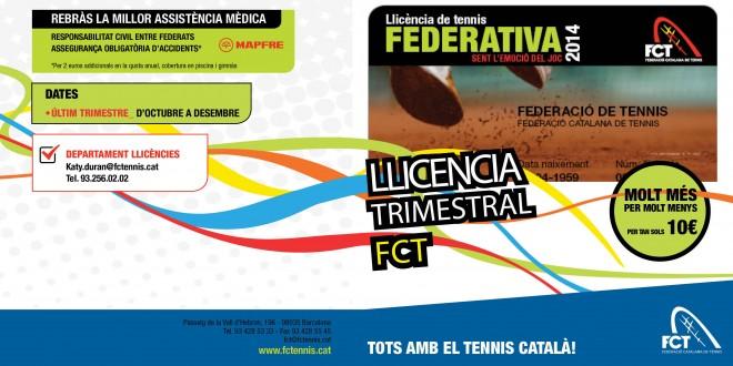 Llicència Trimestral FCT. Molt més per molt menys
