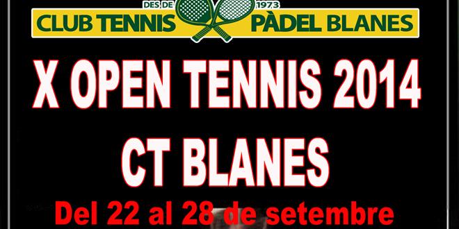 Del 22 al 29 setembre | CT Blanes | X Open Tennis 214