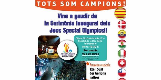 Cerimònia d'Inauguració dels Jocs Special Olympics 2014