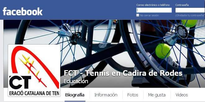 La FCT-Tennis en Cadira de Rodes ja té pàgina al Facebook