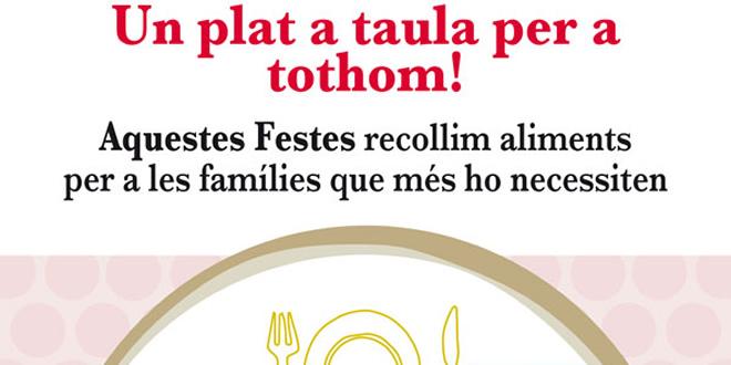"""La Federació Catalana de Tennis s'afegeix a la campanya solidària de recollida d'aliments """"Un plat a taula per a tothom!"""""""