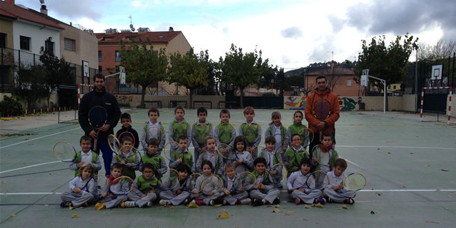 Tennis escolar a la Pobla de Claramunt