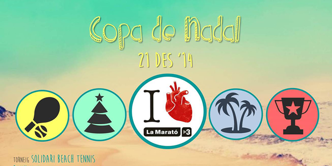 II Copa Nadal, Torneig Solidari de Beach Tennis per La Marató TV3