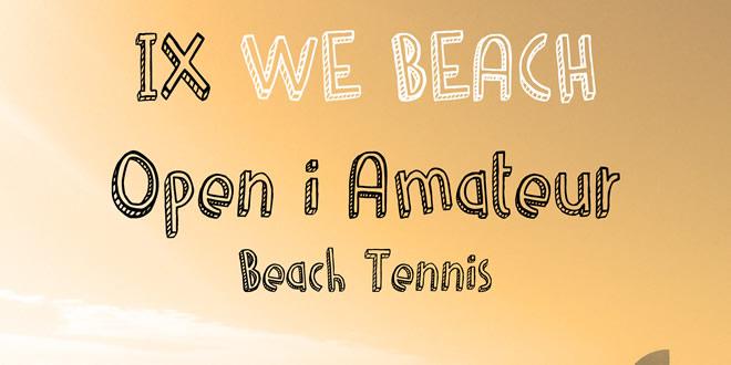 Arrenca la temporada de Tennis Platja a Catalunya amb el IX We Beach