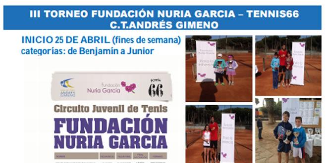 Inscriu-te al III Torneig Fundació Nuria Garcia – Tennis66 | CT Andres Gimeno