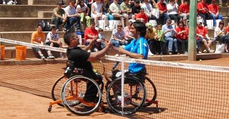 Quico Tur participa en una exhibició amb el Dani Caverzaschi en el Campionat Absolut d'Espanya