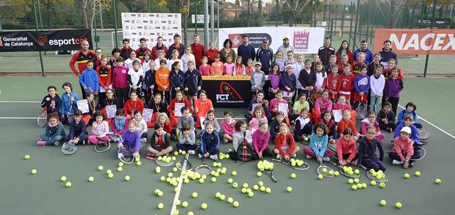 """Exitosa jornada de """"La Laia juga a tennis"""" al CMT Vall d'Hebron"""