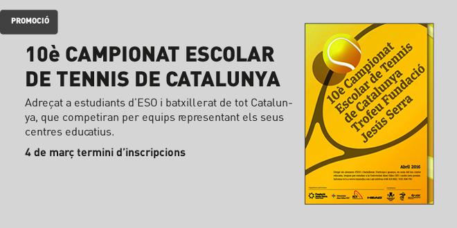 10a edició del Campionat Escolar de Tennis de Catalunya