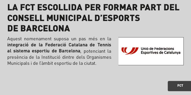 La FCT escollida per formar part Consell Municipal d'Esports de Barcelona