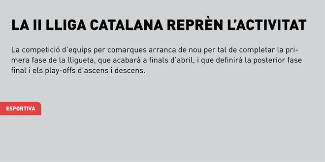 La II Lliga Catalana reprèn l'activitat