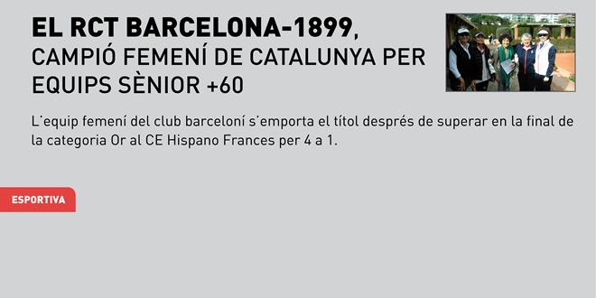 El RCT Barcelona-1899, campió femení de Catalunya per Equips Sènior +60