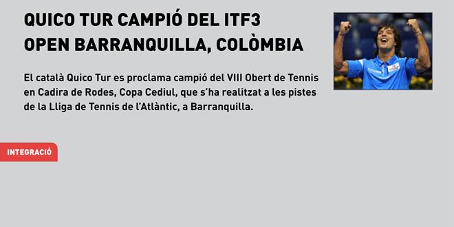 El català Quico Tur es proclama campió del ITF3 Open Barranquilla (Colòmbia)