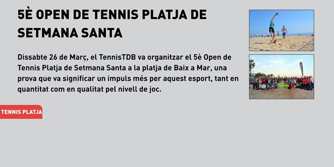 5è Open de Tennis Platja de Setmana Santa