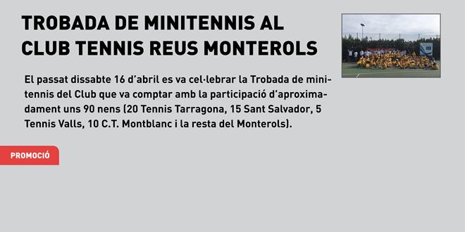 90 minitenistes participen a la trobada de minitennis del Club Tennis Reus Monterols