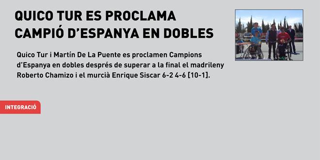 Quico Tur es proclama campió d'Espanya en dobles