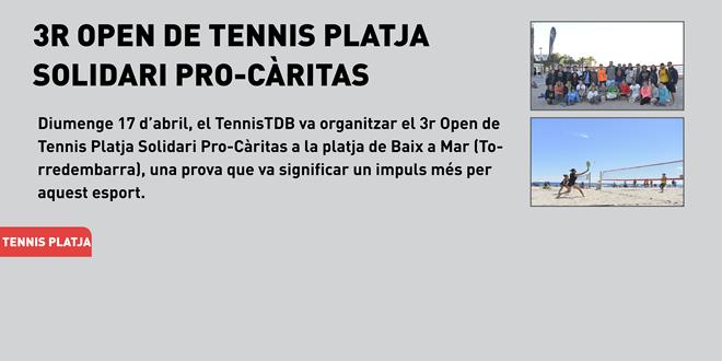 3r Open de Tennis Platja Solidari Pro-Càritas a la platja de Baix a Mar (Torredembarra)