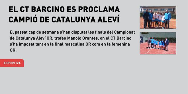 El CT Barcino es proclama campió de Catalunya Aleví per equips OR