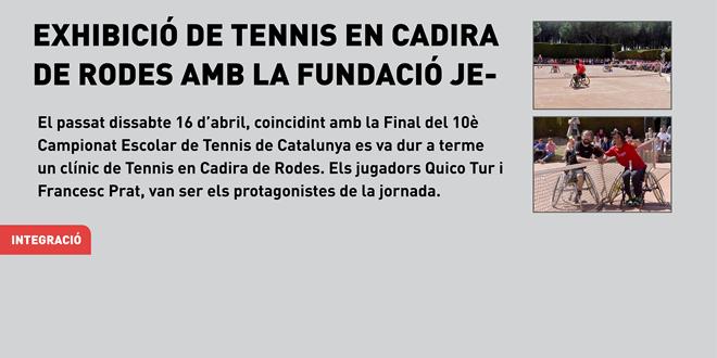 Exhibició de Tennis en Cadira de Rodes amb la Fundació Jesús Serra