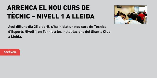 Arrenca el nou curs de Tècnic – Nivell 1 a Lleida