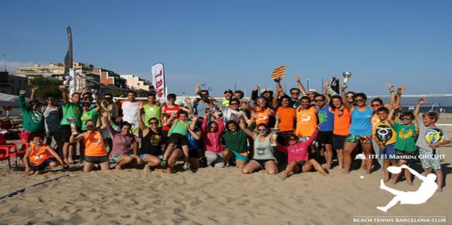 Rodríguez-Magriñá i Gamell-De Toro es proclamen  campions del II Internacional de Beach Tennis a El Masnou, Barcelona