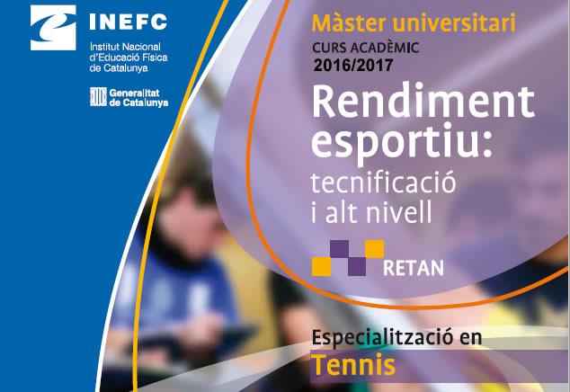 Màster en Rendiment Esportiu: Tecnificació i Alt Nivell (RETAN) amb formació específica en tennis | INEFC Barcelona