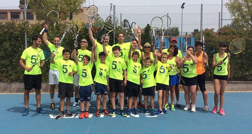 El V Open Solidari del CN Lleida recapta 7.300 euros per a l'AECC de Lleida