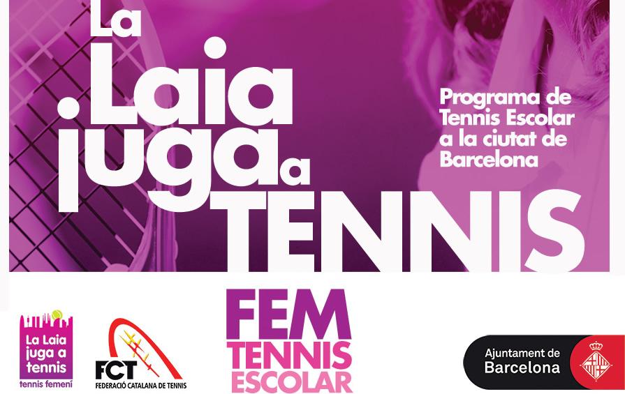 """Més de 30 escoles i 2100 alumnes implicats en la nova temporada de Tennis Escolar FCT """"La Laia Juga al Tennis"""""""