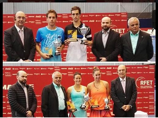 Èxit del tennis català al Campionat d'Espany Absolut disputat a l'Acadèmia Rafa Nadal