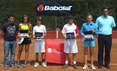 Herrera i Bolsova, campions de la fase catalana de  la Babolat Cup.