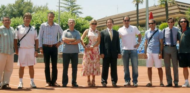 Albert Costa visita el Club Tennis Lleida