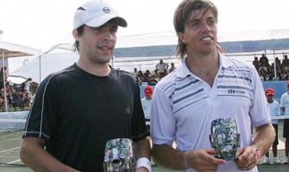 Pere Riba, campió del Challenger de Cancún, amb Carlos Berloq.