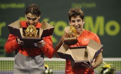 Rafa Nadal i Marc López, campions a Doha.