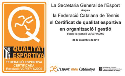 Certificat de Qualitat Esportiva.