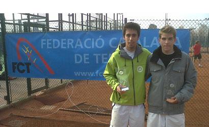 Guillem Closa, campió i Roger Pérez, finalista del X Obert de Primavera.