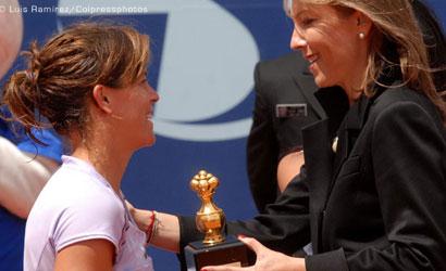 Lourdes Domínguez, campiona del WTA de Bogotá 2011.