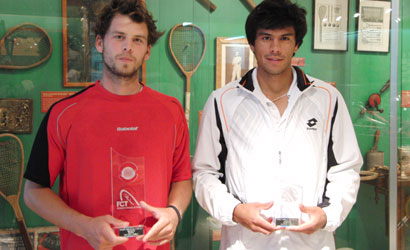 Domenech (esquerra), campió i Vargas, finalista.