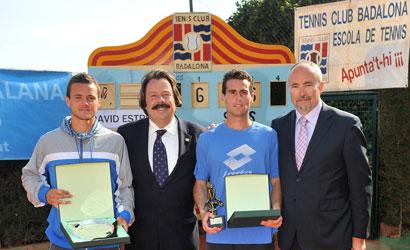 David Estruch (esquerre), campió i Pedro Clar, finalista al TC Badalona.