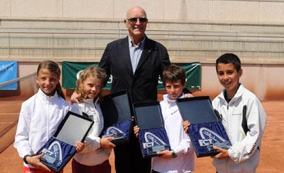 Andreu Gimeno amb els finalistes del Campionat de Catalunya Benjamí