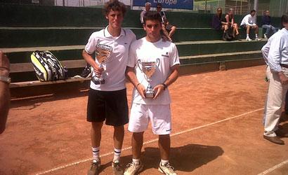 Oriol Roca (dreta), finalista del ITF Júnior de Benicarló.