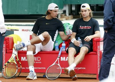 Rafa Nadal i Davíd Ferrer, finalistes del Godó.