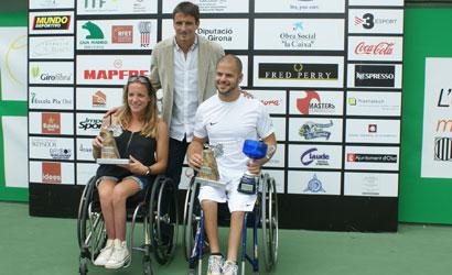 Tommy Robredo amb els campions, Stephan Olsson i Jiske Griffioen.