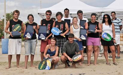 Campions de Catalunya de Tennis Platja 2011.