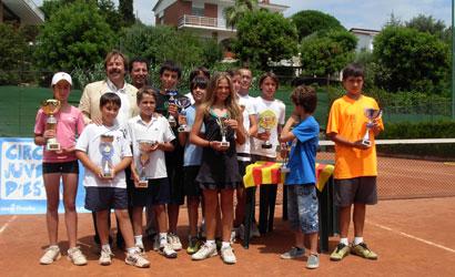 Finalistes del Circuit Juvenil d'Estiu del CT Cabrils.