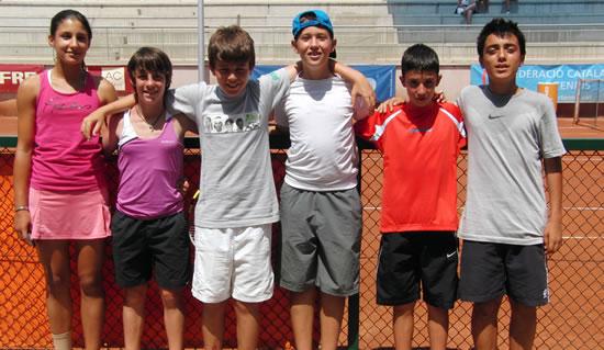 Digne paper dels tennistes lleidatans al Campionat d'Espanya Aleví de 2011