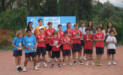 Finalists del Circuit Juvenil d'Estiu 2011 al Berga TC.