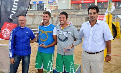 Campions masculins del IV Trofeu Internacional Ciutat de Barcelona de Tennis Platja.