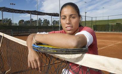 Estrella Cabeza, jugadora del CT Barcino, finalista a l'ITF Women's de Sevilla.